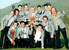 Ryder Cup European 2010 Celtic Manor Multi Signed Autograph 16x12 GOLF AFTAL COA