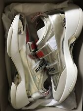 """PALM ANGELS Red and Silver """"Recovery"""" Sneakers Shoe Size 13 US 46 UK"""