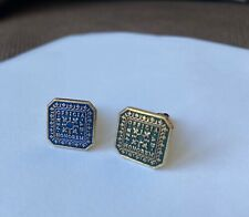 More details for masonic gold plated sterling silver cuff links per official ad honorem enamel