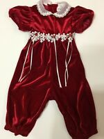 Toddler Romper Girl Red Velvet Baby Outfit 18 Month Valentine EUC Rare Editions
