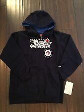 Winnipeg Jets NEW Youth Large Reebok Logo Zip Up Hooded Sweatshirt . NHL Hockey