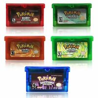 Pokemon Gameboy Cartridge Nintendo NDSL GBC GBM GBA SP Emerald, Ruby, Sapphire