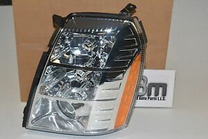 2007 - 2009 Cadillac Escalade EXT ESV LH Driver Side Headlamp Headlight new OEM