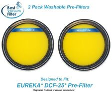 2 Washable Pre Filter for Eureka DCF25 fits SuctionSeal, AirSpeed, part 67600