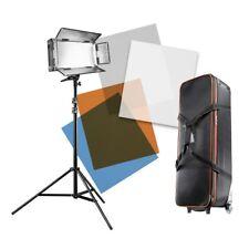 walimex pro LED 500 Artdirector, Flächenleuchte mit Lampenstativ und Tasche