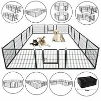 "8panel/39"" 16panel/24""Metal Dog Cat Exercise Fence Playpen Kennel Safe For Pet"