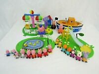 Peppa Pig boat, playground playsets & lots of figures Bundle P1