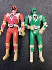 Lot Of 2 VINTAGE 1993 Mighty Morphin Power Rangers Flip Head ACTION FIGURES