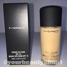 New Mac Foundation Studio Fix Fluid Foundation  SPF 15 NW20 100% Authentic