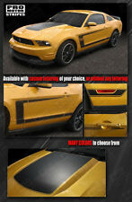 Ford Mustang 2010-2012 BOSS 302 Style Hood & Side C-Stripes Decals -Choose Color
