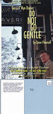 DO NOT GO GENTLE - A PLAY BY LEON POWNALL ADVERTISING COLOUR POSTCARD