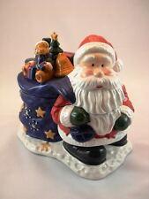 NEW HOLIDAY SEASONS SANTA CLAUS CANDY DIVIDED JAR UPC 049022202658
