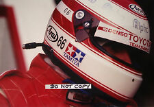 Fotografía 9x6, Roland Ratzenberger equipo ADRs Toyota retrato de grupo C 1992