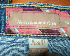 ABERCROMBIE & FITCH JEANS WOMENS PREMIUM  LOW RISE SIZE 6 A&F