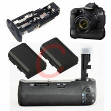 Battery Grip Pack For Canon EOS 60D 60DA REBEL X0D BG-E9 DSLR Camera + 2 x LP-E6