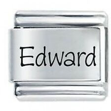 EDWARD Name - Daisy Charm by JSC Fits Classic Size Italian Charms Bracelet