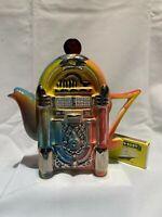 swineside teapottery juke box small  teapot bnib