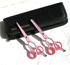 "Professional Hairdressing Barber Salon Cutting shears Thinning Scissors Set 5.5"""