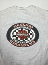 Harley Davidson Gray Stratman Haines Pocket T-Shirt Mankato Mn  S/M