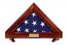 American Patriotic Display Case for 3x5 Flag Shadow Box Solid Mahogany-NEW