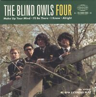 """THE BLIND OWLS Four 4-track vinyl 7"""" EP + MP3 NEW garage punk beat 200-copies"""