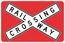 Railway Crossing Traffic Sign 1350x900mm Aluminium Class 1 R6-25B