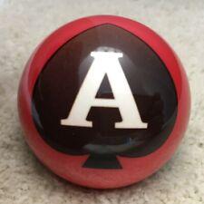 "New listing 2 1/4"" Ace Of Spades Pool Ball, Billiard Ball, Poker Pool Ball"