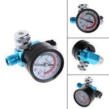 1/4''  BSP HVLP Spray Gun Air Regulator Tool Pressure Gauge Diaphragm Control I