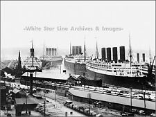 Photo: The RMS Aquitania, RMS Olympic, SS Berengaria & The RMS Homeric, 1920's