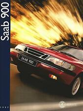 Saab 900 UK Market Brochure 1996-97 70 Pages Includes 5-Door Coupe & Convertible