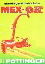 Pöttinger Einreihiger Maishäcksler Mex-OK, orig. Prospekt 1989