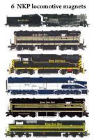 Nickel Plate Road Steam, Diesel, Heritage 6 magnets Andy Fletcher