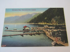 Vintage Postcard Horseshoe Bay Vancouver British Columbia Canada Rodgers Dock