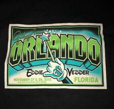 EDDIE VEDDER - Orlando FL T-Shirt Size XL - November 27 28 2012 disney pearl jam