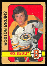 1972 73 O PEE CHEE OPC HOCKEY #281 NICK BEVERLEY VG-EX ROOKIE BOSTON BRUINS RC