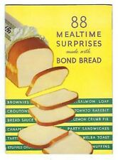 88 MEALTIME SURPRISES made with Bond Bread RECIPE BOOK Vintage SANDWICHES