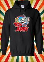 Tom and Jerry Cartoon Cat and Mouse Men Women Unisex Top Hoodie Sweatshirt 2277