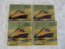 Titanic White Star Line Porcelain Glass Coasters Model Set New from 1998 Olympic