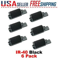 6 Pack - IR 40 Black Ink Rollers Calculator Canon CP-16 CP16 Sharp XE-A101, A102