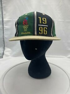 Vintage 90's Atlanta 1996 Olympics Hat Men's Snapback Logo Athletic Color Block