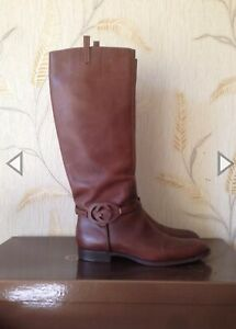 Gucci Boots Womens Leather GG Brown Shoes 182167 us 10 eu 41 RRP 1000$