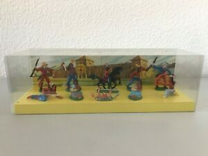 10 DDR Indianer Anton Röder Lisanto Diorama um 1965/70 Org.Verkaufsverpackung!12