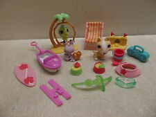 Littlest Pet Shop Lps Tropical Treasures # 858 859 860 Dog Hermit Crab Bird 100%