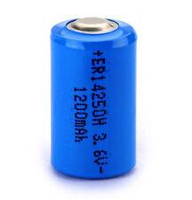 Batteria litio mezza stilo 1/2 AA 14250 ER14250 3.6V 1200 mAh Li-SOCL2 sensore