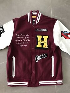 THE HUNDREDS Baseball Jacket Limited RED Bobby Hundreds LA Los Angeles Brand New