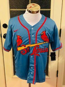 St. Louis Cardinals #28 Nolan Arenado Light Blue Jersey