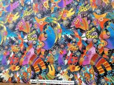 LAUREL BURCH Quilt Sew Fabric Fantastic Felines Kitty Cat Angel Wings 56 inches