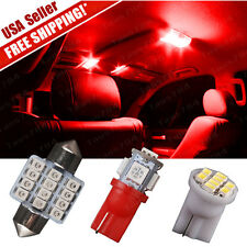 """6 X Red LED lights Tag lamp + T10 & 31mm Dome Map 1.22"""" for Interior package Kit"""