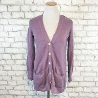 J.Jill Women's Purple V-Neck Button Cardigan Sweater Size XS Extra Small Petite