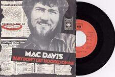 MAC DAVIS BABY DON'T GET HOOKED ON ME RARE 1973 RECORD YUGOSLAVIA 7' PS